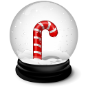 Christmas crutches icon