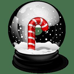 Christmas crutches icon