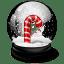 Christmas-crutches icon