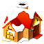 http://icons.iconarchive.com/icons/harwen/red-christmas/64/Home-icon.png