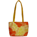 Orangeyellow bag icon