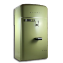 vintage fridge green icon