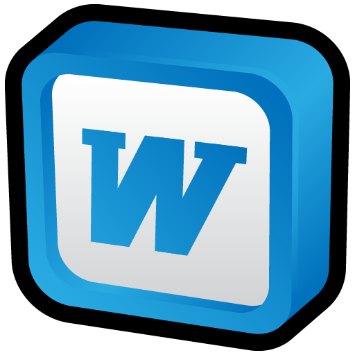 microsoft word icon 3d cartoon addons iconset hopstarter