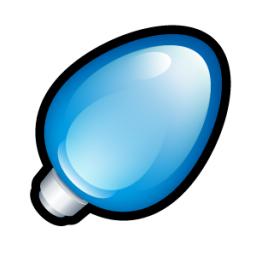 christmas light blue icon