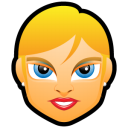 Female Face FE 2 blonde icon