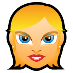 Female Face FE 1 blonde icon