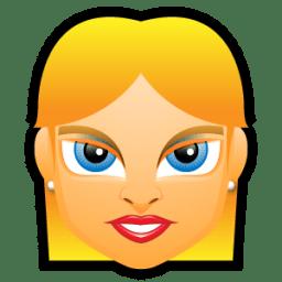 Female Face FE 4 blonde icon