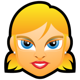 Female Face FE 5 blonde icon