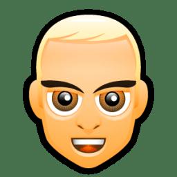 Male Face F4 icon