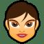 Female Face FG 4 brunette icon