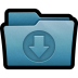 http://icons.iconarchive.com/icons/hopstarter/mac-folders-2/72/Folder-Download-icon.png