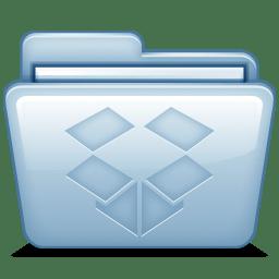 Blue Dropbox icon