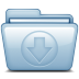Blue-Download icon