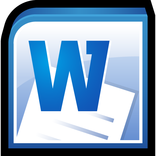 microsoft office word icon office 2010 iconset hopstarter