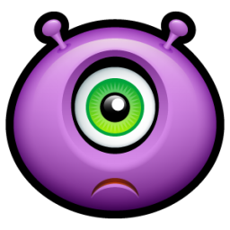 Alien sad icon