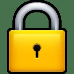 lock icon scrap iconset hopstarter