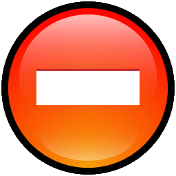 Button Delete icon