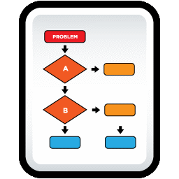 Document Flow Chart icon