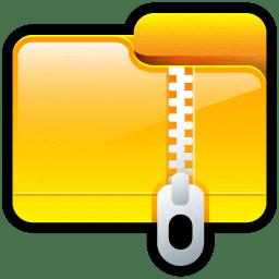folder compressed icon soft scraps iconset hopstarter