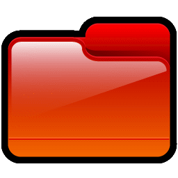 Folder Generic Red icon