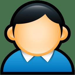 User Coat Blue icon