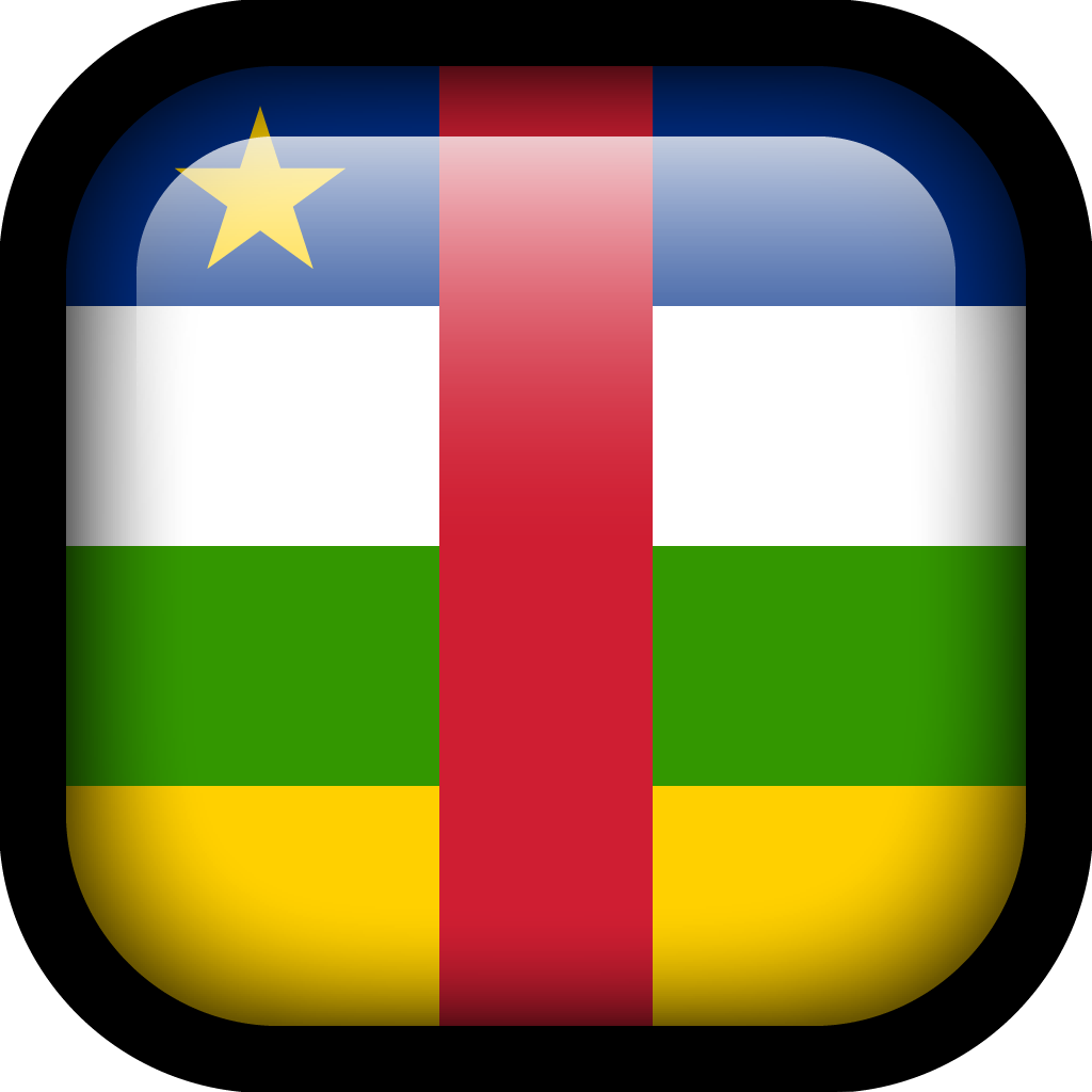 Central African Republic Flag Icon | Square Flags Iconset
