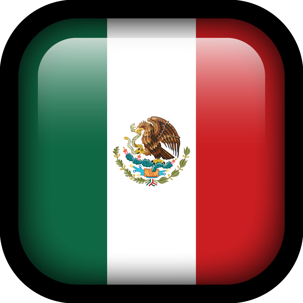 Mexico Flag Icon | Square Flags Iconset | Hopstarter