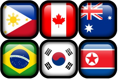 Square Flags Icons