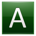 Letter A dg icon