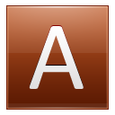 Letter A orange icon