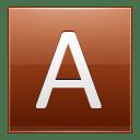 Letter A orange icon