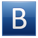 Letter B blue icon
