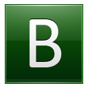 Letter B dg icon