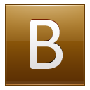Letter B gold icon