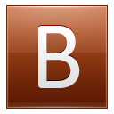 Letter B orange icon