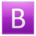 Letter B pink icon