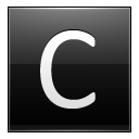 Letter C black icon