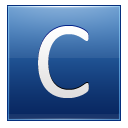 Letter C blue icon