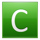 Letter C lg icon