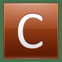 Letter C orange icon