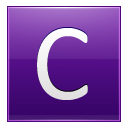 Letter C violet icon