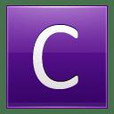 Letter C violet icon