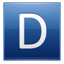 Letter D blue icon