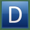 Letter D blue icon