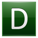 Letter D dg icon