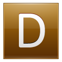 Letter-D-gold icon