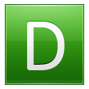 Letter-D-lg icon