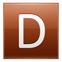 Letter D orange icon