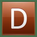 Letter D orange icon