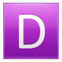 Letter D pink icon